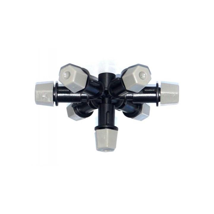 Туманообразователь, 7 сопел, серый, 2.0-4.0bar, радиус 0.9-1.0м, 42,70-53,60л/ч арт: MJ1372