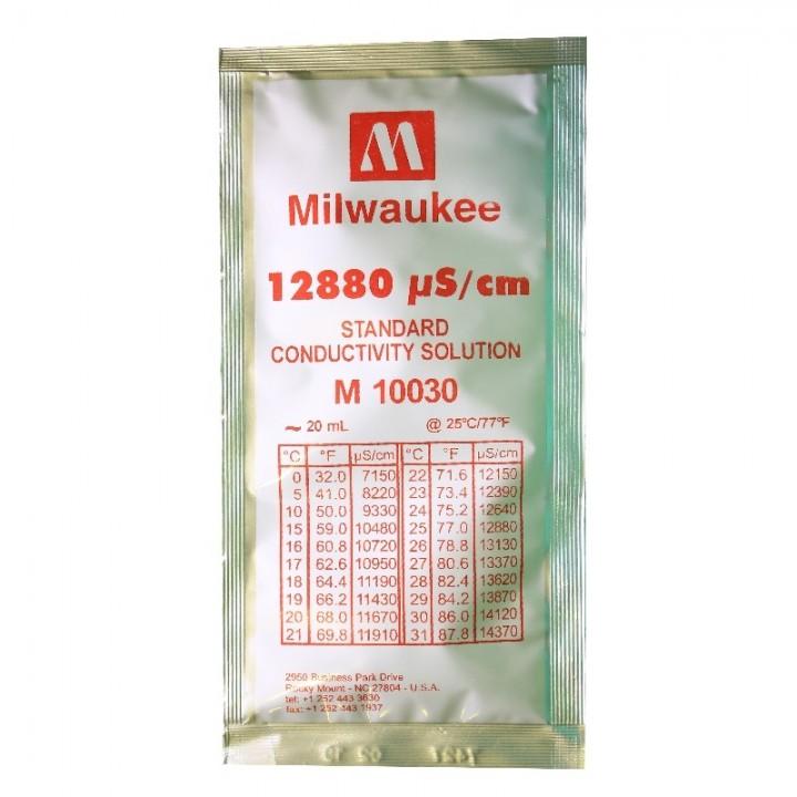 Калибровочный раствор 12880 µS/cm Conductivity Calibration Solution Milwaukee 20 ml.