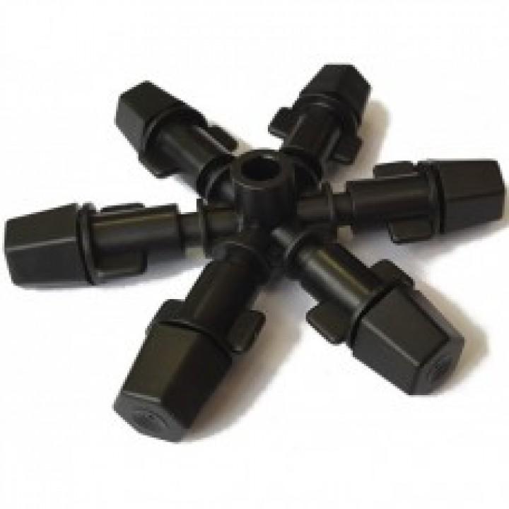 Туманообразователь, 6 сопел, черный 2,0-4bar, радиус 0.9-1.0м, 47,90-60,5л/ч арт: MJ1361