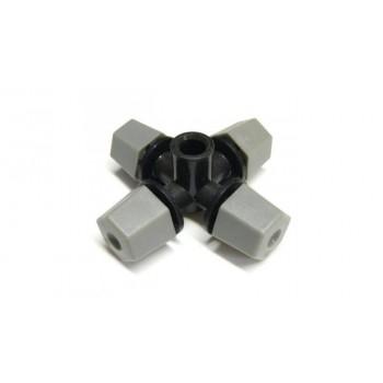 Туманообразователь, 4 сопла, серый 26,4л/ч 2,5bar, радиус 1,1-1,2м арт: MJ1302