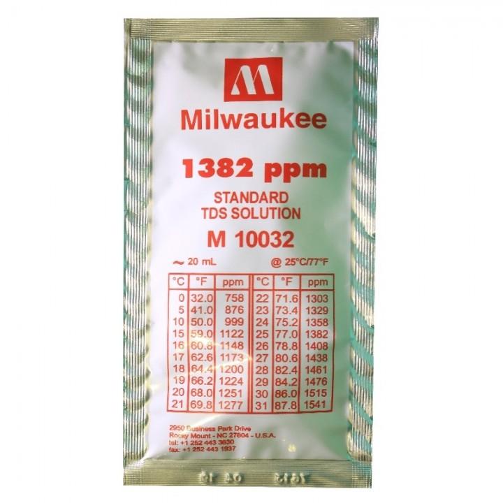 Калибровочный раствор 1382 ppm TDS Calibration Solution Milwaukee 20 ml.