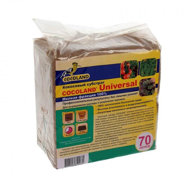 Субстрат кокосовый Cocoland Universal в блоках по 5 кг (60 л)