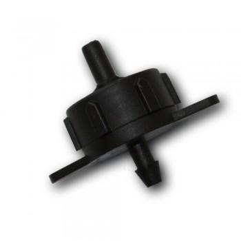 Капельница компенсированная 1/4 черная 4 л/ч 1,5-3,2 bar