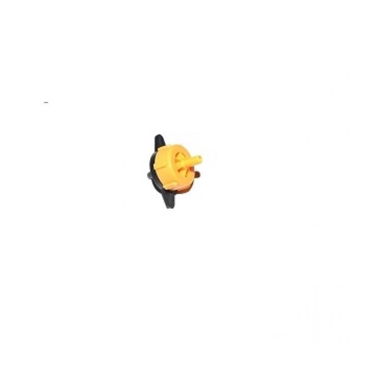 Капельница компенсированная разборная 1/4 Желтая 2 л/ч 0,8-3,2 bar