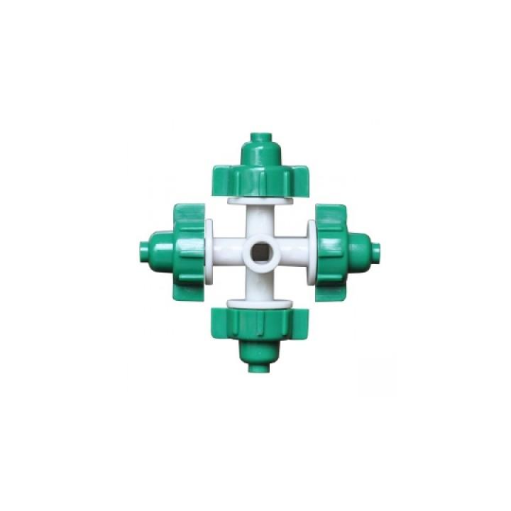 Туманообразователь, 4 сопла, зеленый, 26,0л/ч 2,5bar, радиус 0,8-1,0м арт: MJ1301A